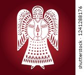 beautiful  lacy angel. a... | Shutterstock .eps vector #1241288176