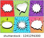 comic speech bubbles collection ... | Shutterstock .eps vector #1241296300