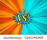 comic light fight concept with... | Shutterstock .eps vector #1241296309