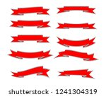 set of the different ribbon... | Shutterstock .eps vector #1241304319