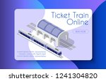 ticket train online business... | Shutterstock .eps vector #1241304820