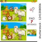 cartoon illustration of finding ...   Shutterstock .eps vector #1241308006