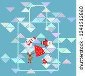 christmas card  santa snowman...   Shutterstock .eps vector #1241312860