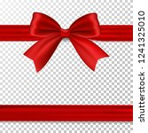 red bow with ribbon  isolated... | Shutterstock .eps vector #1241325010