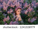beautiful woman with a  wreath ... | Shutterstock . vector #1241328979