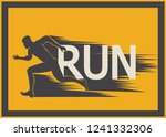 running marathon  people run ... | Shutterstock .eps vector #1241332306