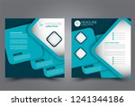 square flyer design. a cover... | Shutterstock .eps vector #1241344186
