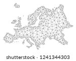 polygonal mesh map of europe in ... | Shutterstock .eps vector #1241344303