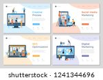 landing pages design. business... | Shutterstock .eps vector #1241344696