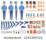 courier box character animation.... | Shutterstock .eps vector #1241344723