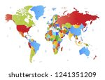 color world map vector | Shutterstock .eps vector #1241351209
