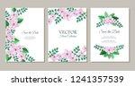 vector save the date poster set ... | Shutterstock .eps vector #1241357539