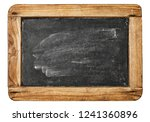vintage chalkboard with wooden... | Shutterstock . vector #1241360896