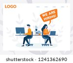 we are hiring  it talent ... | Shutterstock .eps vector #1241362690