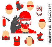 occupational safety and health... | Shutterstock .eps vector #1241371699