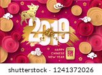 happy chinese new year 2019... | Shutterstock .eps vector #1241372026
