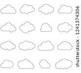 clouds line art icon. storage... | Shutterstock .eps vector #1241374306