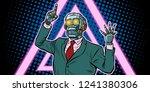 cyberpunk 80s style. emotional... | Shutterstock .eps vector #1241380306