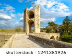 famous bridge in besalu ... | Shutterstock . vector #1241381926