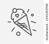 ice cream icon line symbol....
