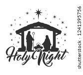 nativity scene silhouette... | Shutterstock .eps vector #1241395756