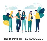 vector colorful illustration of ... | Shutterstock .eps vector #1241402326