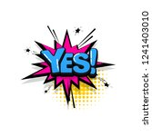 yes  yeah comic text collection ... | Shutterstock .eps vector #1241403010