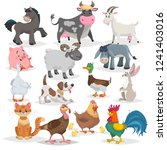 cute farm animals set.... | Shutterstock .eps vector #1241403016