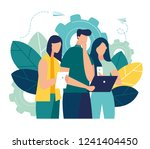 vector colorful illustration of ... | Shutterstock .eps vector #1241404450