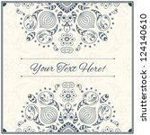 retro gift card with vintage... | Shutterstock .eps vector #124140610