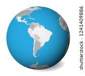blank  map of south america. 3d ... | Shutterstock .eps vector #1241409886