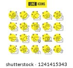 mail messages line icons. set... | Shutterstock .eps vector #1241415343