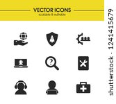 support icons set with help... | Shutterstock .eps vector #1241415679