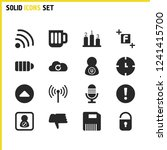 ui icons set with rating  black ...