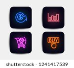 neon set of shopping cart ... | Shutterstock .eps vector #1241417539