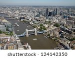 Aerial View Of Tower Bridge An...