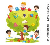 vector illustration of kids... | Shutterstock .eps vector #1241431999