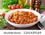 stewed red beans with carrot in ... | Shutterstock . vector #1241439169