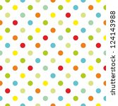Seamless Colorful Polka Dots...