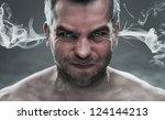 Anger  Close Up Of Angry Man...