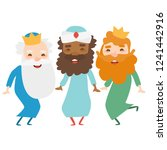 the three kings of orient on a... | Shutterstock .eps vector #1241442916