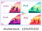 martial arts of different... | Shutterstock .eps vector #1241451523