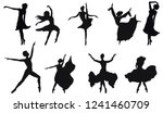 dancers silhouettes   set of... | Shutterstock .eps vector #1241460709