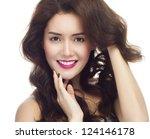 portrait of attractive ... | Shutterstock . vector #124146178