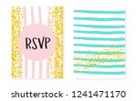 gold glitter sequins with dots. ... | Shutterstock .eps vector #1241471170