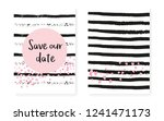 pink glitter sequins with dots. ... | Shutterstock .eps vector #1241471173