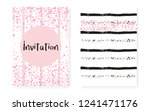 pink glitter cards with dots... | Shutterstock .eps vector #1241471176