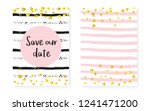 gold glitter sequins with dots. ... | Shutterstock .eps vector #1241471200