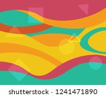 colorful geometric background... | Shutterstock .eps vector #1241471890