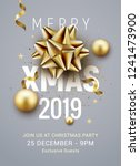 christmas party poster template ... | Shutterstock .eps vector #1241473900